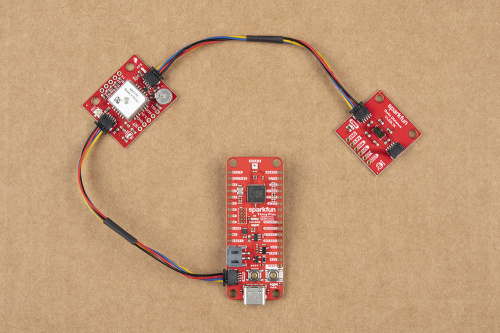 Qwiic devices connected to SparkFun Thing Plus - RP2040