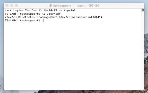 Mac OSX CLI Command Entry