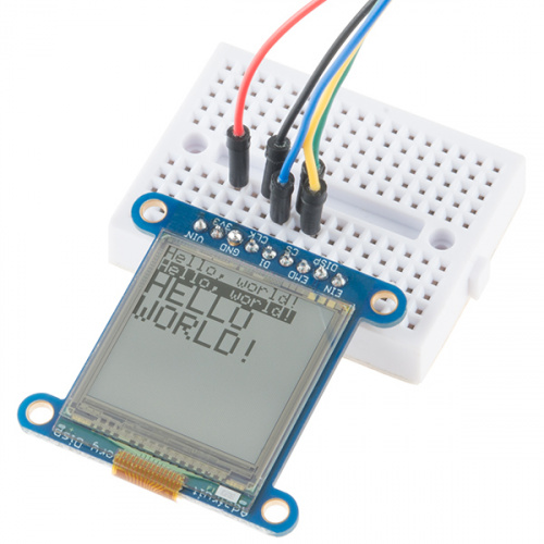 "SHARP Memory Display Breakout - Silver Monochrome (1.3"", 96x96)"