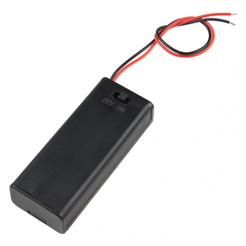 Battery Holder - 2xAAA with Cover and Switch