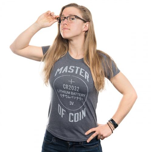 Master of Coin Women's Shirt - Medium (Gray)