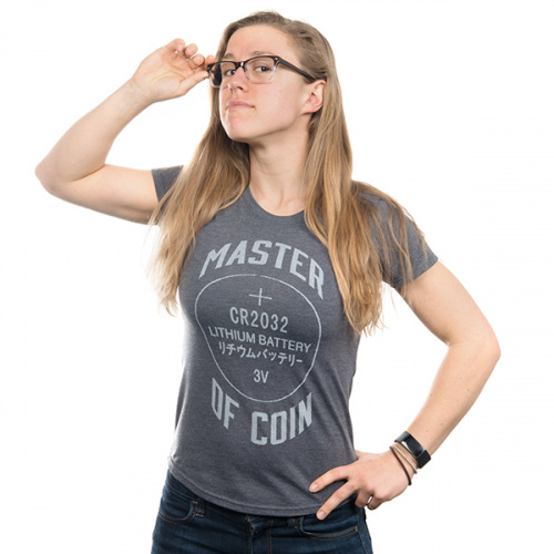 Master of Coin Women's Shirt - Large (Gray)
