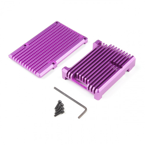 Aluminum Heatsink Case for Raspberry Pi 4 - Tanzanite Purple