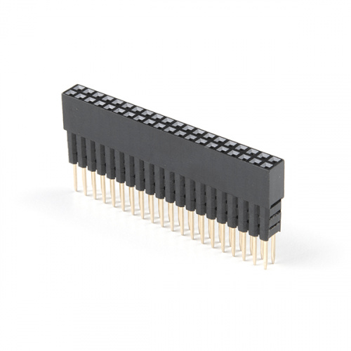 Extended GPIO Female Header - 2x20 Pin (16mm/7.30mm)
