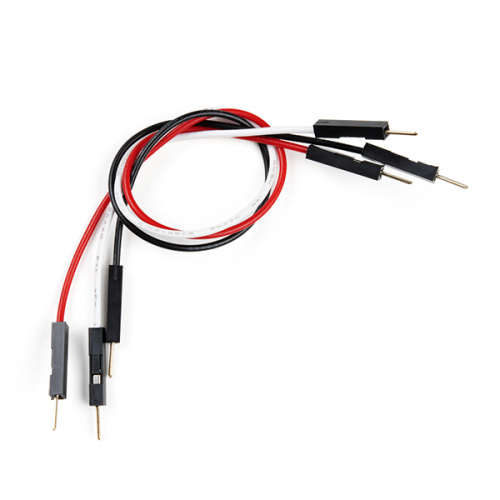 Jumper Wires Premium 6in. M/M - 3 Pack (Red, Black, and White)
