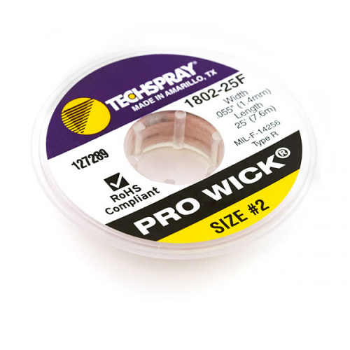 Solder Wick #2 25ft. - TechSpray