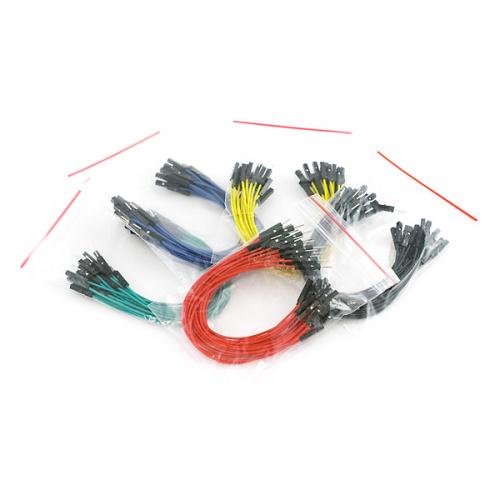 """Jumper Wires Premium 6"""" M/F Pack of 100"""