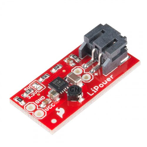 LiPower - Boost Converter - PRT-10255 - SparkFun Electronics