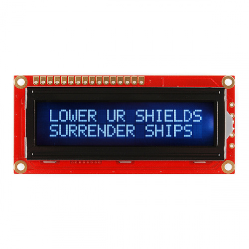 SparkFun Basic 16x2 Character LCD - White on Black, 5V (with Headers)