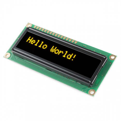 Basic 16x2 Character OLED -  Yellow on Black