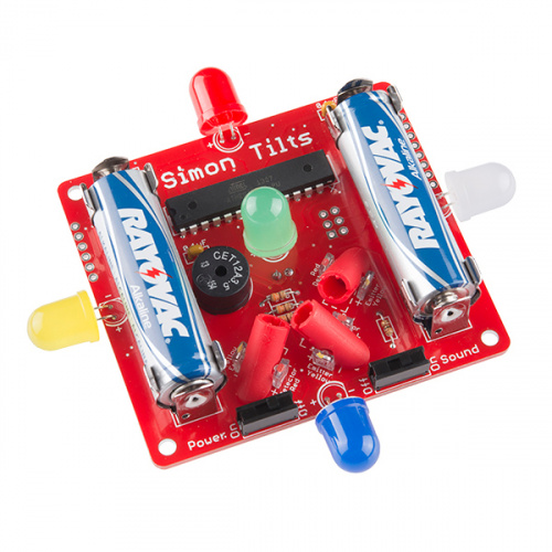 SparkFun Simon Tilts - Through-Hole Soldering Kit