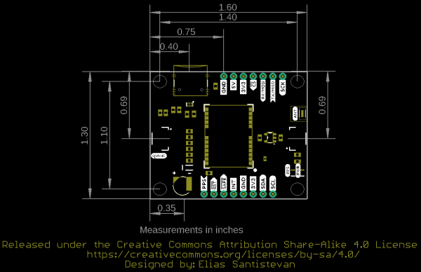 Board Dimension for Chip Antenna Version