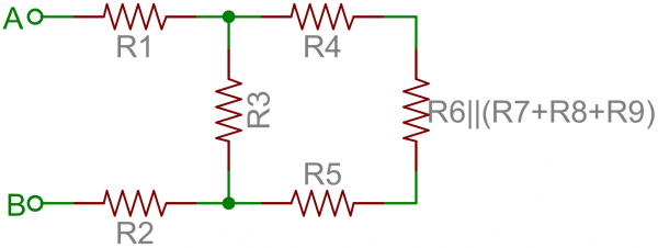 Resistor network simplified