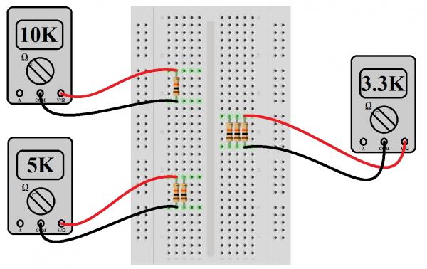 Experiment: Measure parallel resistors with a multimeter