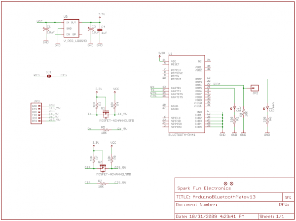 Bluetooth Mate Silver Schematic