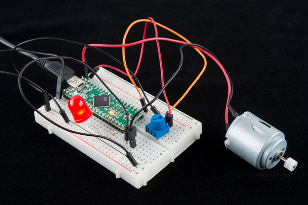 Teensy with BJT controlled motor
