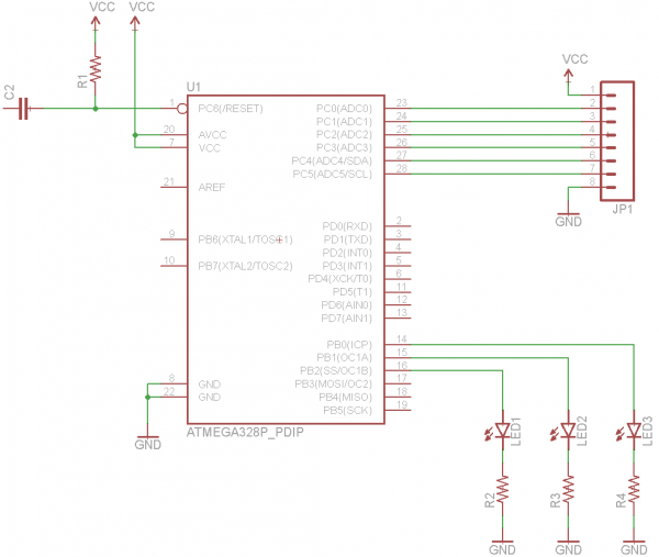 Wiring the ATmega circuit