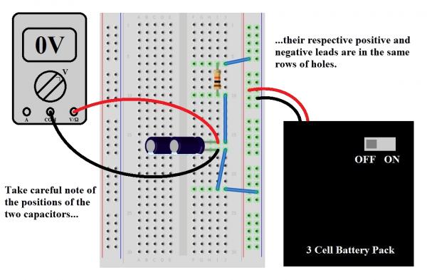 Frizing diagram: caps in parallel