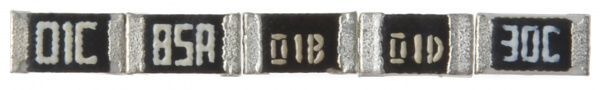 Resistors marked with E-96 codes
