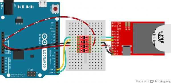Arduino to Electric Imp serial via BD-LLC