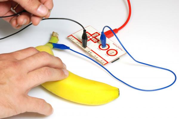 Pressing the banana key