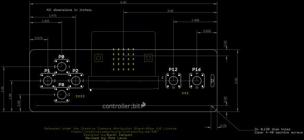 Controller:Bit Board Dimensions