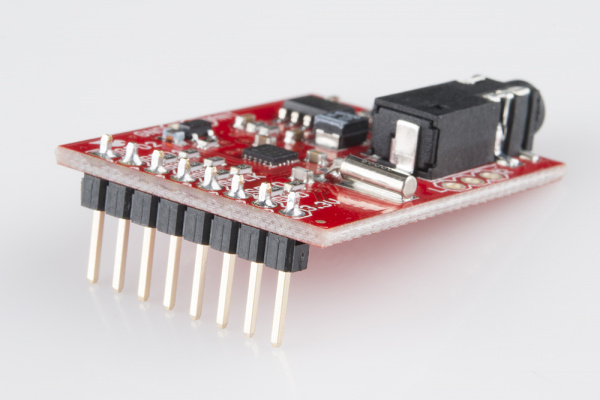 Breakout board with headers soldered