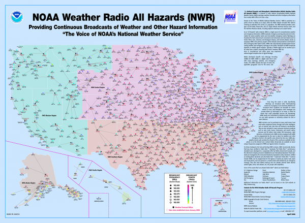 Weather radio coverage map