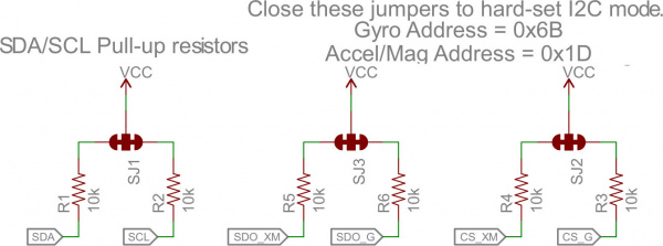 Jumpers on schematic