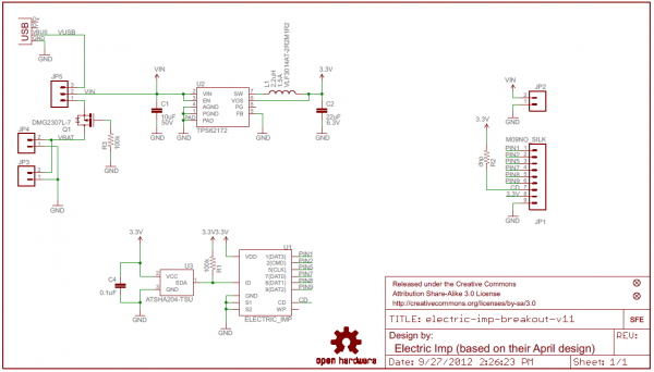 Electric Imp Breakout Schematic