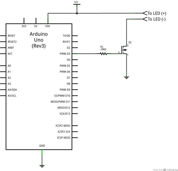 Arduino MOSFET circuit