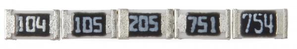 Примеры резисторов SMD с маркировкой E-24