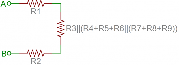Resistor network further simplified