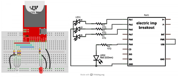 Fritzing and schematic for example 2