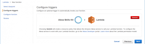 Triggering your Lambda function with Alexa