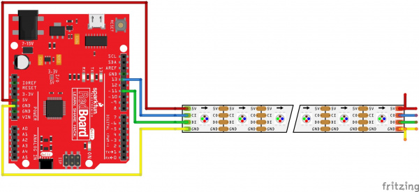 Arduino APA102 Hookup