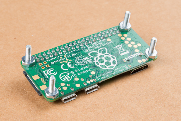 Raspberry Pi Zero with 4-40 Standoff Nuts