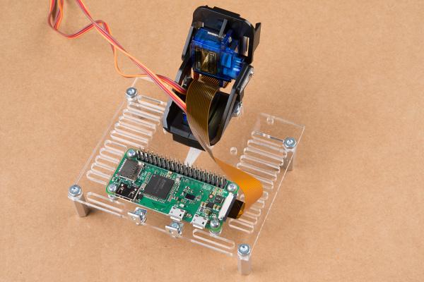 Raspberry Pi Zero camera cable plugged into camera and pi