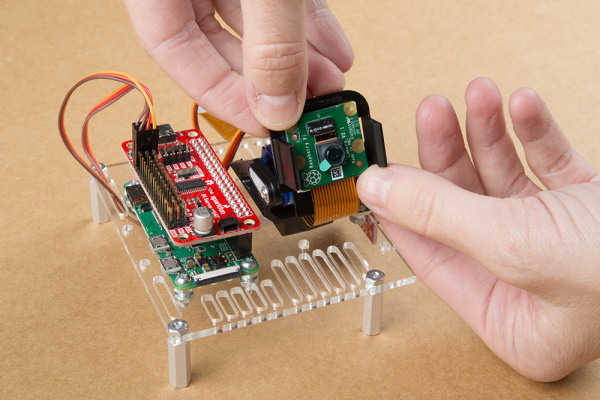 mounting camera to RVR pan tilt mechanism