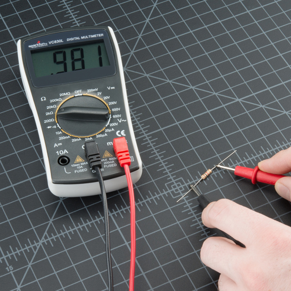 Reading An Ohmmeter : How to use a multimeter learn sparkfun