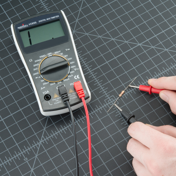 Infinite Resistance Ohmmeter : How to use a multimeter learn sparkfun