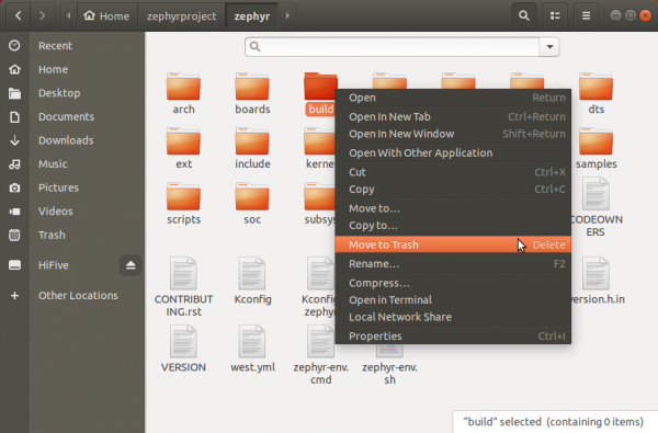 Delete Build Folder