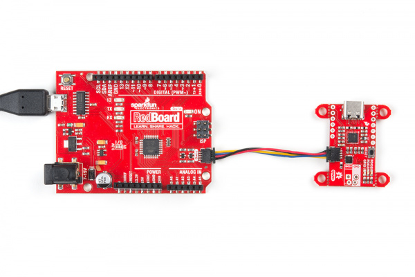 redboard qwiic with power delivery board
