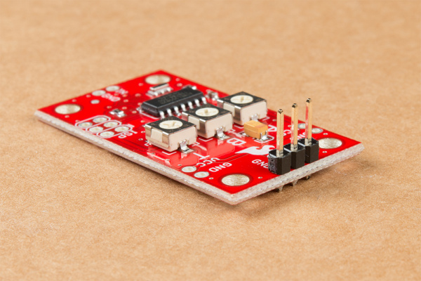 Servo Trigger with 3-pin header soldered to Servo control pins