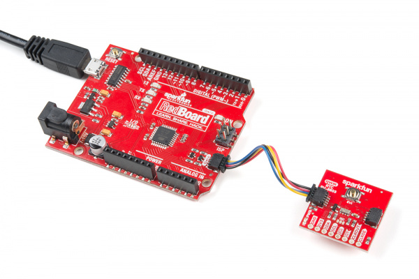 Qwiic RTC connected to the RedBoard Qwiic