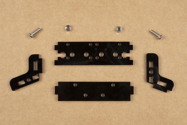 Unassembled stereo camera mount hardware