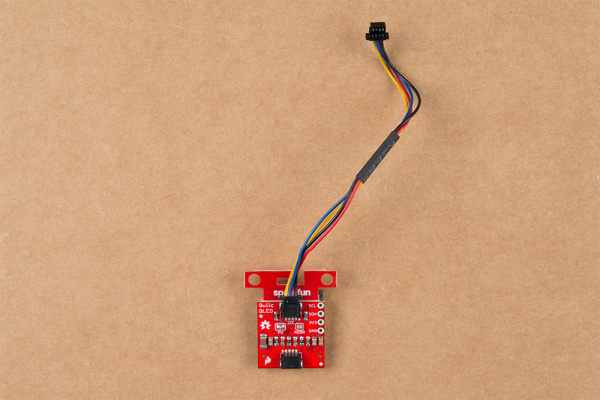 Qwiic Micro OLED with Qwiic cable connected