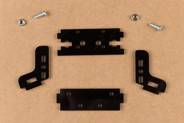 Unassembled camera mount hardware