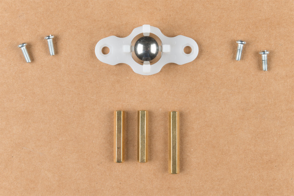 Unpackaged caster ball assembly