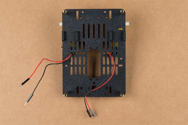 Base plate with motors & standoffs attached